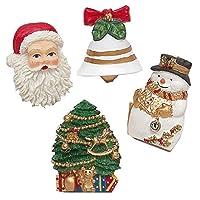 """Carnation Home Fashions """"Christmas Time"""" Juego de 12 ganchos para cortinas de baño"""