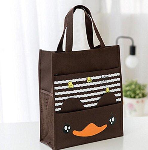 YChoice - Bolsas de lona impermeables para la escuela, bolsa de arte para la escuela, bolsa de mano, bolsa de almacenamiento