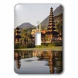 Danita Delimont - Temples - Sunrise at Pura Ulun Danu Bratan in Lake Bratan, Bali, Indonesia. - Light Switch Covers - single toggle switch (lsp_225755_1)