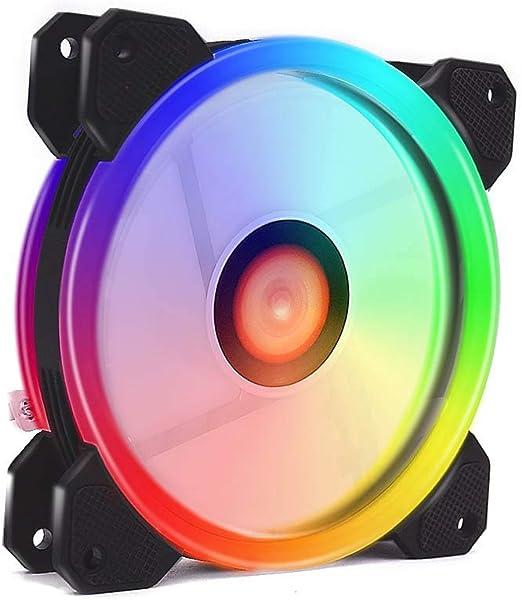 PerGrate - Ventilador de PC RGB, 12 V, 6 Pines, 12 cm, con ...
