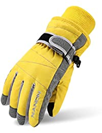 Kids Winter Warm Windproof Outdoor Ski Gloves Cycling Gloves For Boys Girls and Adults