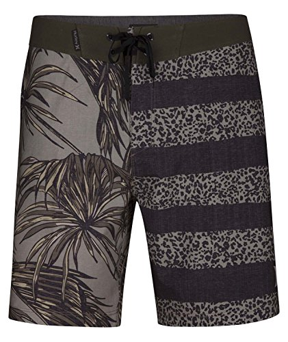 Hurley Mens Phantom Tiger Floral Boardshorts 18, Size: 40, Color: Dark Stucco