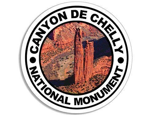 MAGNET 4x4 inch Round Canyon DE Chelly National Monument Sticker (Decal rv Hike) Magnetic vinyl bumper sticker sticks to any metal fridge, car, signs Canyon De Chelly National Monument