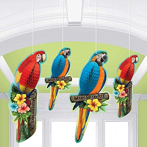 Margaritaville Tropical Parrot Hanging Decor (4