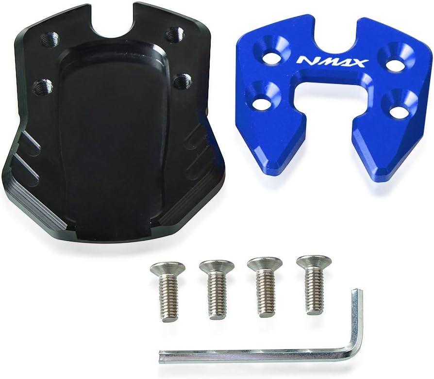 NMAX Motorrad CNC Aluminium Seitenst/änder Vergr/ö/ßern Seitenst/änder Platte f/ür Yamaha NMAX N MAX 125 155-Schwarz+Schwarz