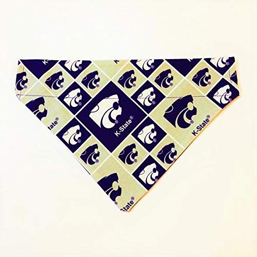 Kansas State University Wildcats Dog Bandana No-Tie by Barking Bad Bakery and Boutique