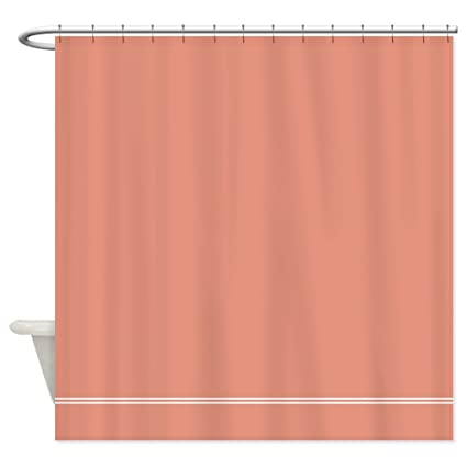 Image Unavailable Not Available For Color CafePress Coral Salmon Pink Shower Curtain