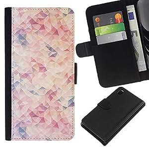 All Phone Most Case / Oferta Especial Cáscara Funda de cuero Monedero Cubierta de proteccion Caso / Wallet Case for Sony Xperia Z3 D6603 // Pattern Blue Peach Pink