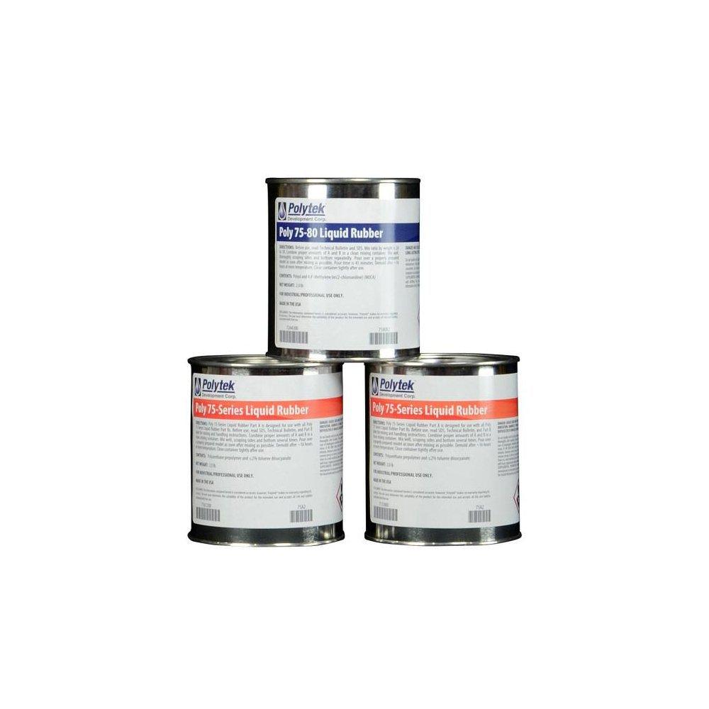 Polytek 75-80 Liquid Polyurethane Rubber (6lb Kit)