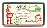 Cavallini Rubber Stamps Vintage Christmas, Assorted with Ink Pad