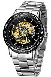 TSS Men's T5009C2 Automatic Skeleton Diver Beze Watch with Stainless Steel Band
