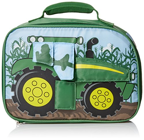John Deere Boys' Tractor Flip Lunchbox, Green
