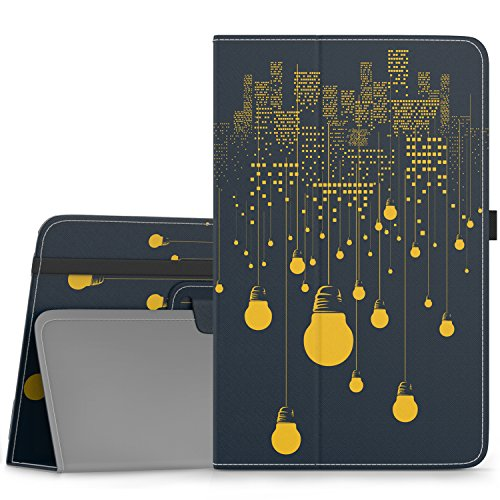 MoKo Samsung Galaxy Tab E 9.6 Case - Slim Folding Cover for Samsung Galaxy Tab E Wi-Fi / Tab E Nook 9.6-Inch Tablet Verizon 4G LTE Version, City Night View (NOT FIT Tab E 8.0 inch Tablet)
