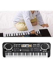 61-Key Digital Music Piano Keyboard, Piano Beginners Digitale Piano E Piano Kinderen Elektrisch Toetsenbord Kinderspeelgoed met Microfoon voor Beginners Jongens Meisjes, EU Plug