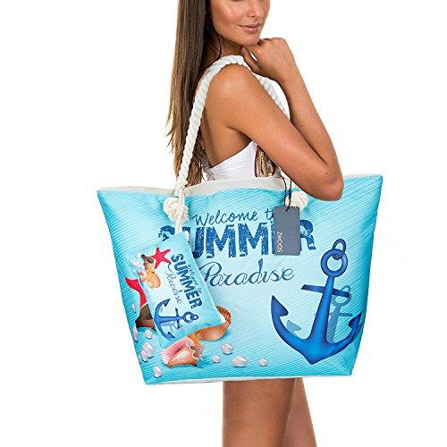 Grande Borsa Da Spiaggia Impermeabile Con Cerniera, Borsa A Tracolla In Tela Da Viaggio Per Shopping Bag Da Viaggio A Due Vie Per Borsa Da Viaggio, Comprare, Gita Ecc. (ancora)