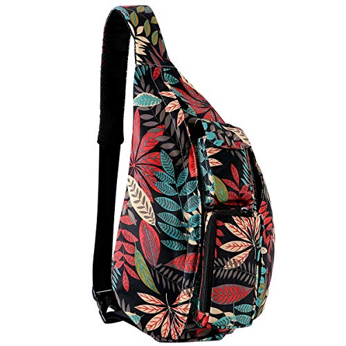 (Unisex Sling Bag Travel Chest Pack Multipurpose Casual Rope Crossbody Backpack Daypack with Adjustable Shoulder Strap for Women Men Girls Boys)