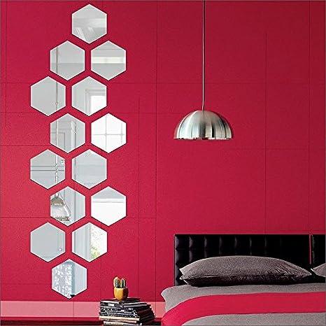 Buy Wall Decor Ideas 3d Acrylic Hexagon Wall Stickers For