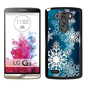 Hot Sale LG G3 Case,Christmas Snowflake 14 Black LG G3 Screen Phone Case Popular and Fashionable Design