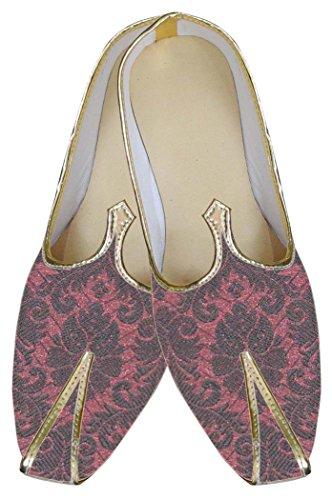 Inmonarch Mens Burgandy Designer Chaussures De Mariage Mj0132