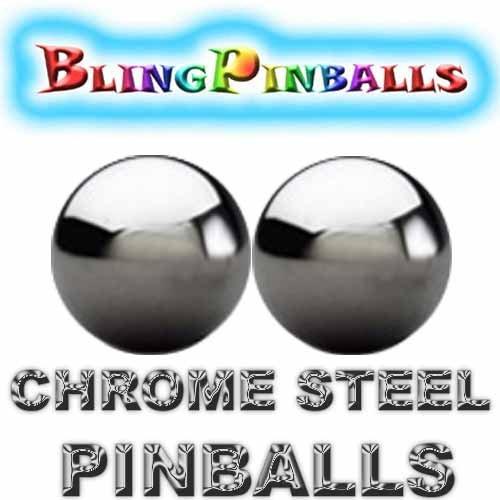2 chrome steel premium Bling mirror finish pinballs