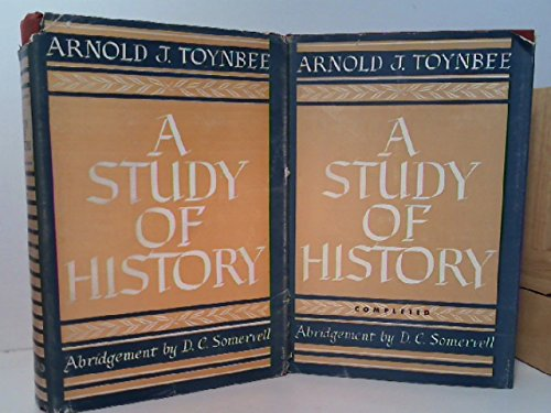 A STUDY OF HISTORY. in TWO VOLUMES (Complete 2 Volume Set) (Arnold J Toynbee A Study Of History)