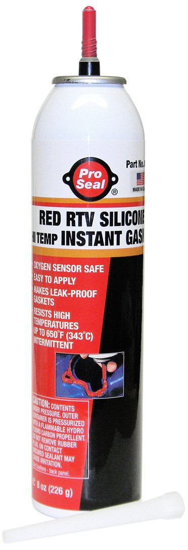 Pro Seal N80729 Hi-Temp RTV Silicone Instant Gasket, Red