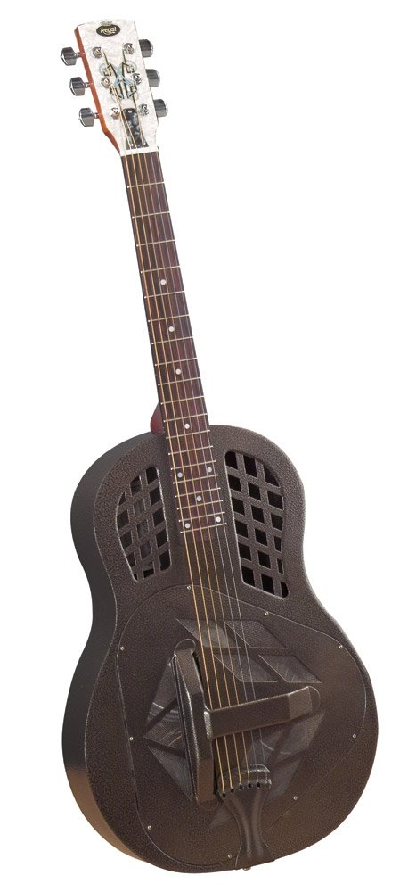 Regal RC-58TT Metal Body Tricone Resophonic Guitar - Powder-Coated Brass