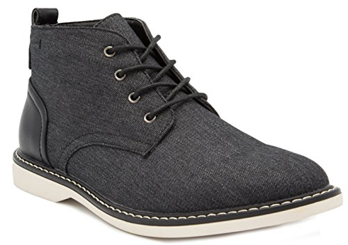 London Fog Mens Belmont Chukka Boot Black 10.5 M US
