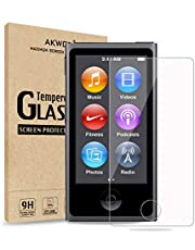 (Pack of 2) Compatible with for iPod Nano 7 8th Screen Protector, Akwox Tempered Glass Screen Protector Guard Film for iPod Nano 8th/7th Generation,Shockproof and Scratch-Resistant