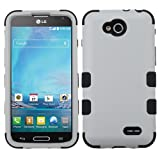 Wydan Case (TM) TUFF Impact Hybrid Hard Gel Shockproof Cover Wydan Case for LG Optimus L90 D415 - Grey on Black w/Prying Tool