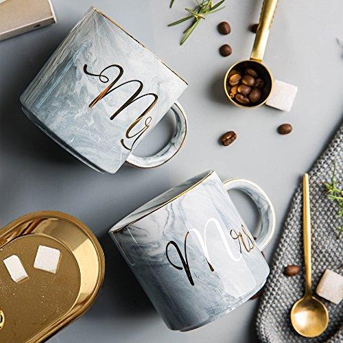 mr mrs couples ceramic coffee