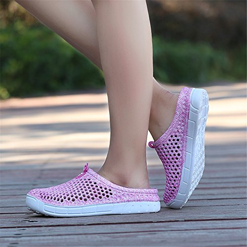 Sandals Clogs Breathable Pink Quick Garden Lightweight Shoes Slippers Drying Women's Lewhosy wnHxRqH