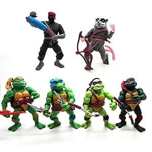 ONOGAL 6X Las Tortugas Ninja Figuras Personajes DE 12 cm ...