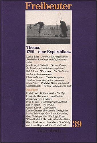 Freibeuter 39 Thema 1789 Eine Exportbilanz Enthält