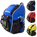 c4b8688ffc99 Soccer Backpack - Basketball Backpack - Youth Kids Ages 6 and Up - with Ball  Compartment