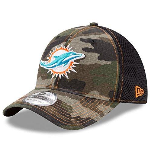 10a8339f15b Miami Dolphins Camouflage Caps. Miami Dolphins New Era NFL 39THIRTY Woodland  Camo