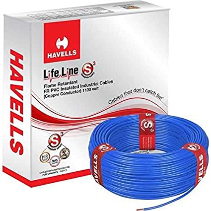 Havells 90m 1.5 Sq mm Blue Lifeline Cable, WHFFDNBA11X5