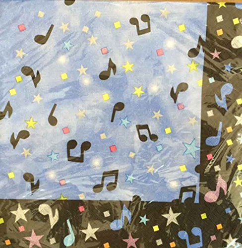 Special Occasions Showtime Musical Notes Luncheon Paper Napkins