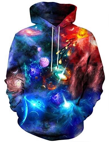 YAJOOEY Unisex 3D Digital Printing Funny Creative Christmas Hoodies Sweatshirts Large (The Best Christmas Jumper Ever)