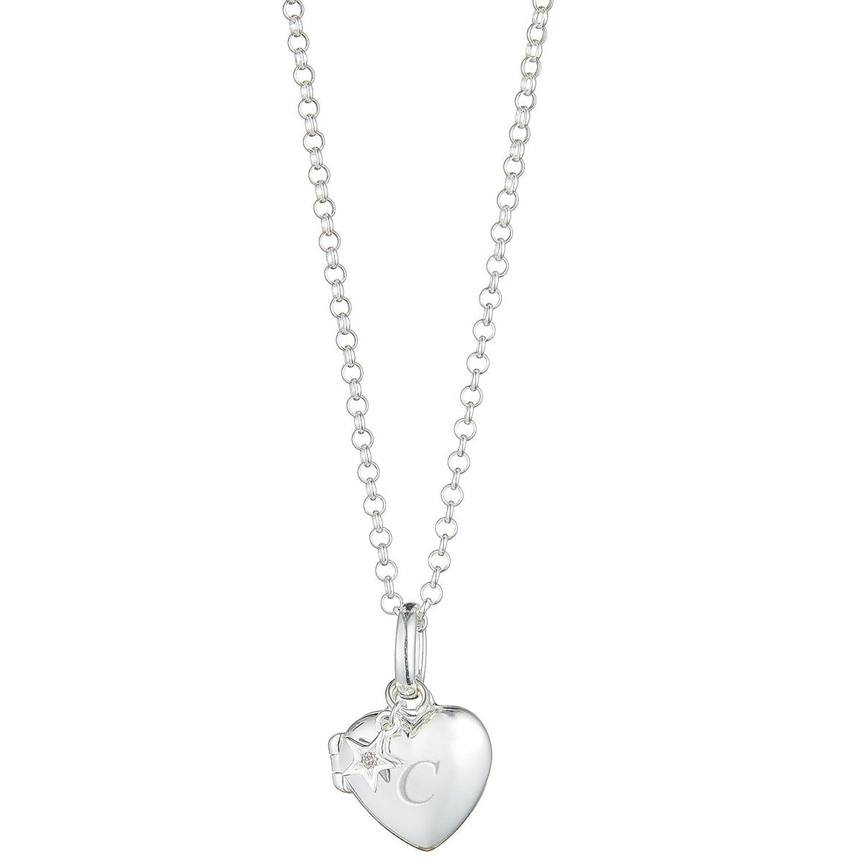 Personalizado pequeño corazón con diamante Locket | Molly marrón Londres