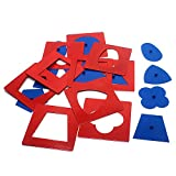 QLL Baby Toys Montessori Materials Professional Quality Metal Insets Set/10 Early Childhood Education Preschool Geometrical Shapes
