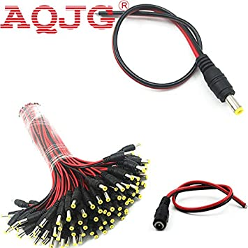 100pcs Female and 100pcs male  Power Plug Pigtail for Security Camera