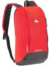 Decathlon Arpenaz 10 Liters Lighweight Backpack (Grey / Red)