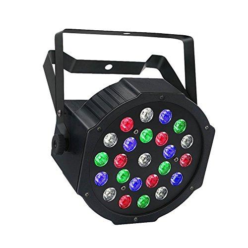 LED Par, LaluceNatz 24LED RGBW Par Can with Remote Control