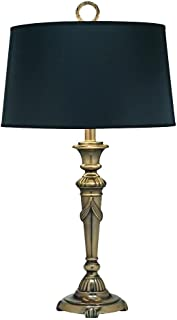 product image for Stiffel DL-N8090-BB One Light Desk Lamp, Burnished Brass Finish with Black Opaque/Gold Foil Shade