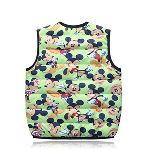 green Wadded mickey Kids Outfits Lemonkids;® Children Cartoon Vest Lightweight Warm Jacket pSI44vFAq
