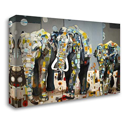 Sumatran Elephants 24x17 Gallery Wrapped Stretched Canvas Art by Freda, Britt