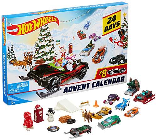 Hot Wheels 2019 Advent Calendar Vehicles (Christmas Kids Advent Calendar)