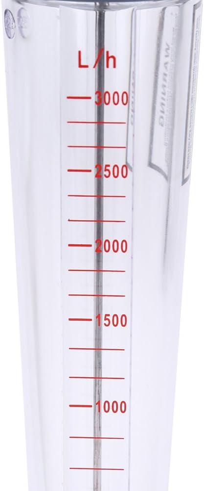 Caudal/ímetro Tubo de pl/ástico Tipo LZS-25 Caudal/ímetro 300-3000L//H Agua