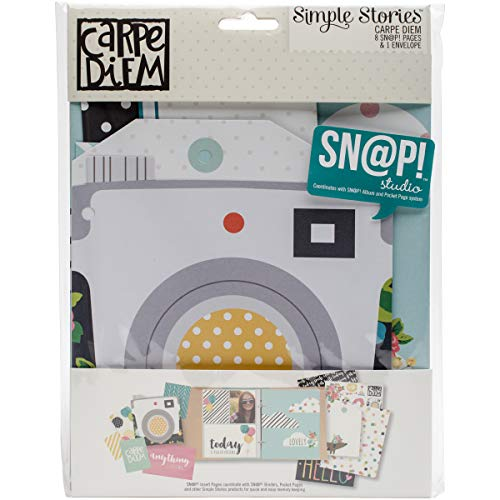 Simple Stories Collection Carpe Diem Snap Pages Envelope (2 Pack)